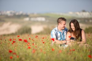 west pentire poppy field pre shoot