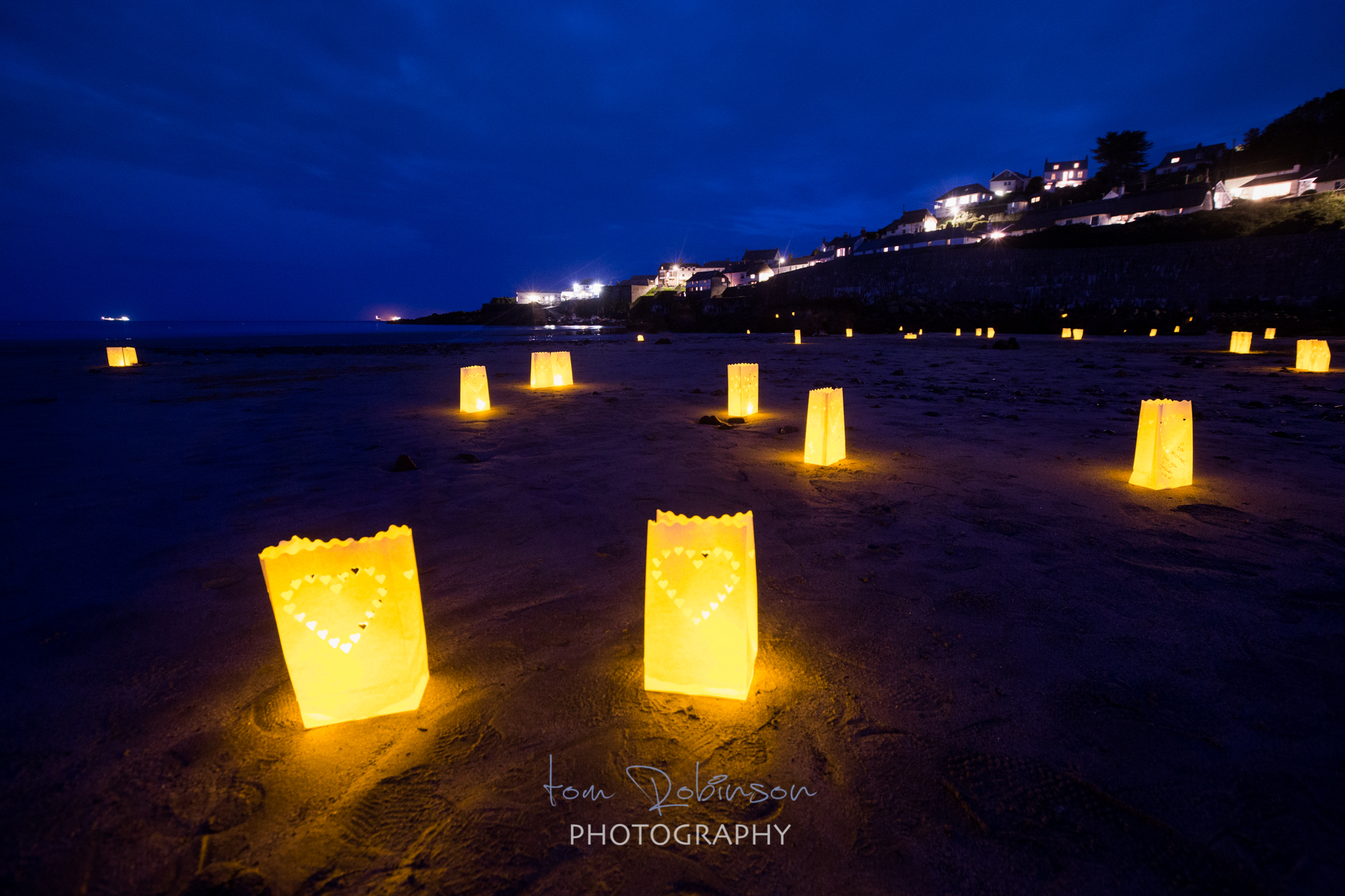 Coverack by night from the Cornwall by night collection by Tom Robinson Photography