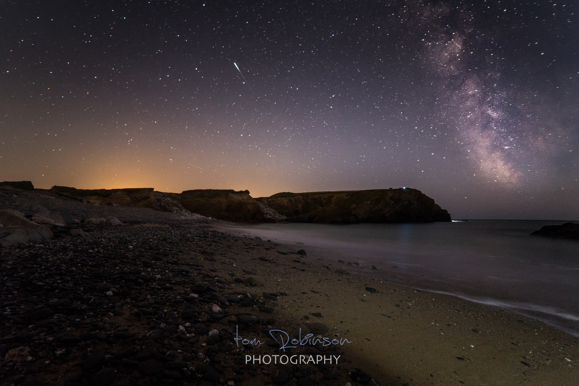 Dollar cove by night from the Cornwall by night collection by Tom Robinson Photography