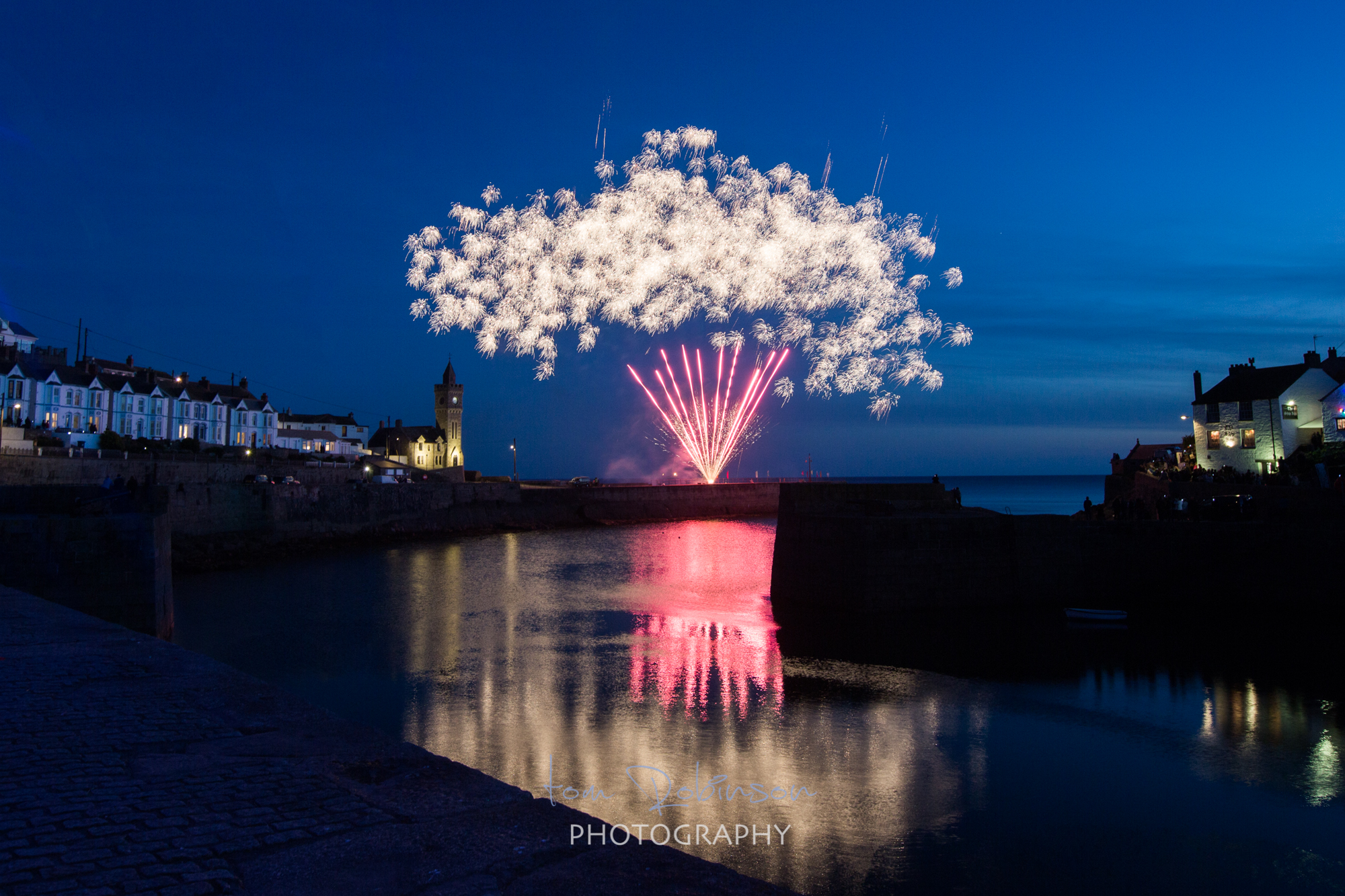 Porthleven food festival by night from the Cornwall by night collection by Tom Robinson Photography