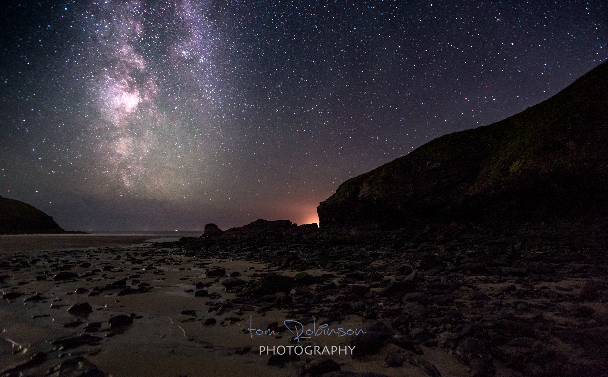 Poldhu by night from the Cornwall by night collection by Tom Robinson Photography