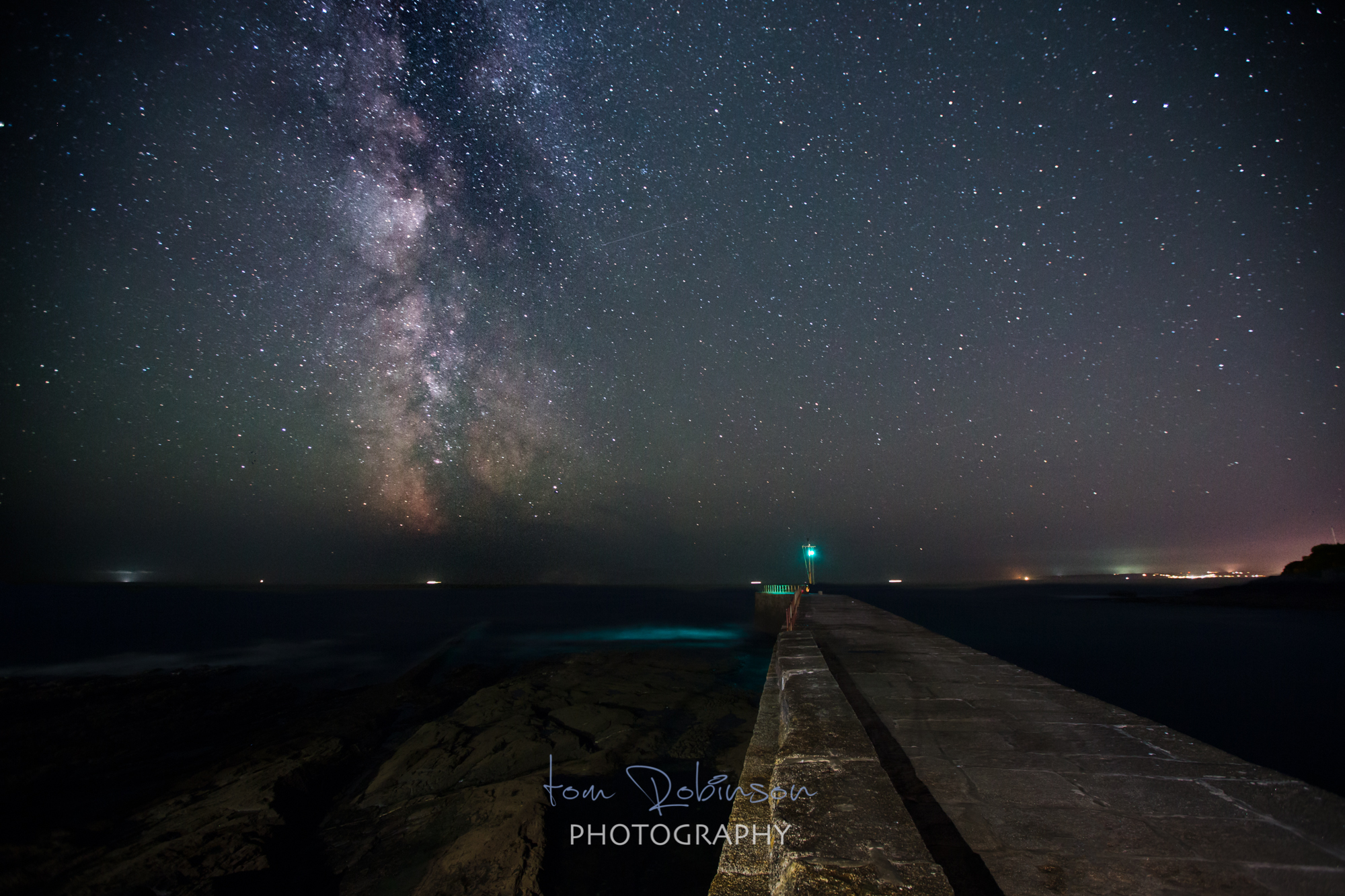 Porthleven by night from the Cornwall by night collection by Tom Robinson Photography