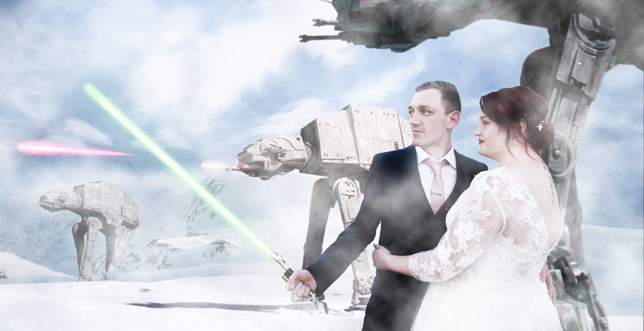 star wars wedding picture