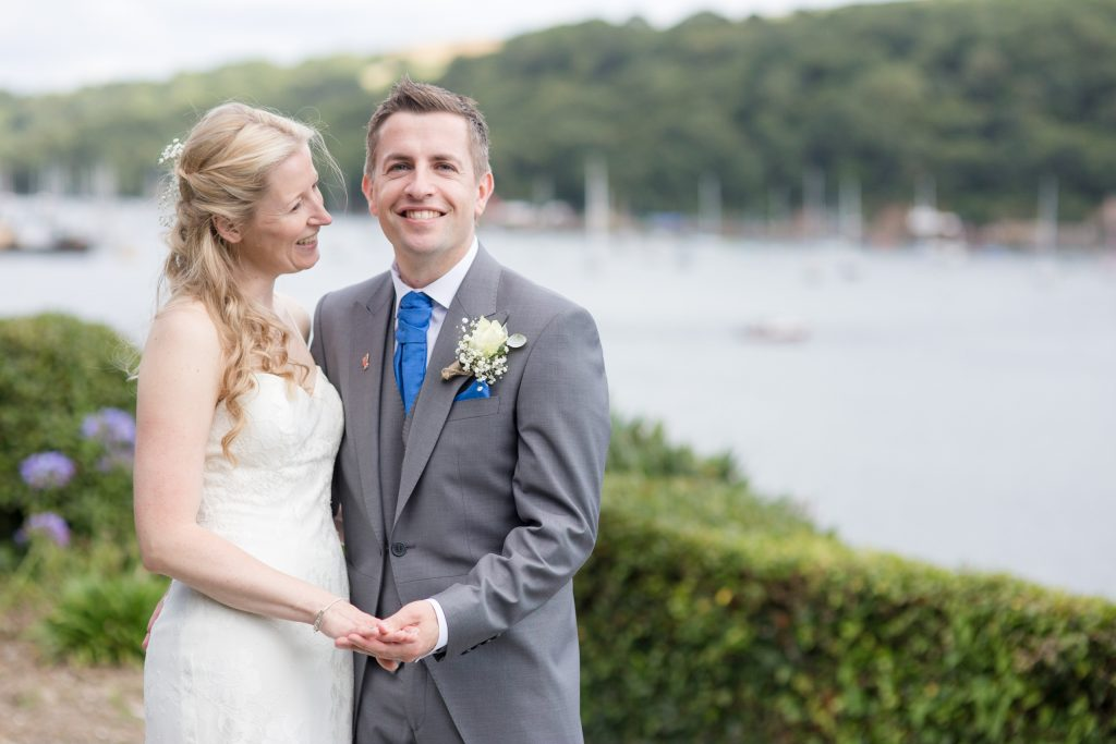 Fowey hotel wedding by Tom Robinson Photography Cornwall wedding photographer