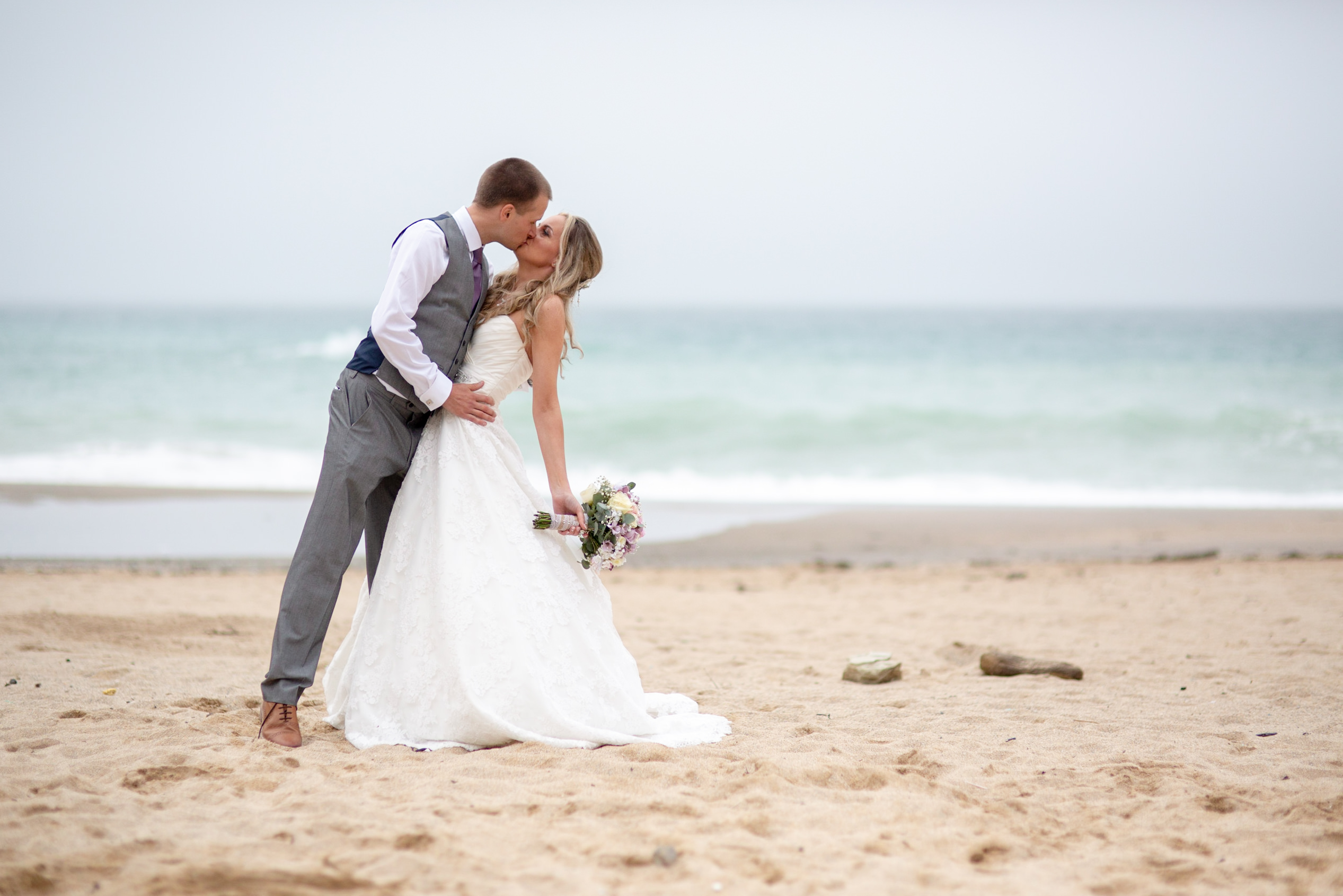 wedding at lusty glaze by Tom Robinson photography Cornwall wedding photographer