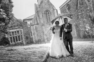 Rain on wedding at the Alverton