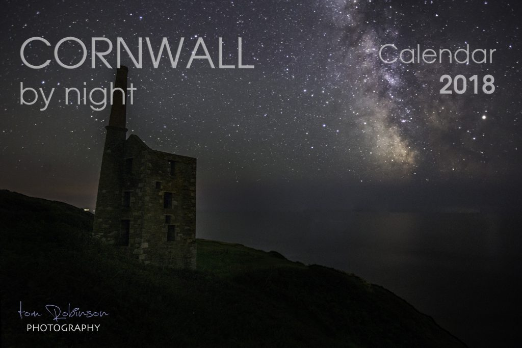 Cornwall by night calendar front cover
