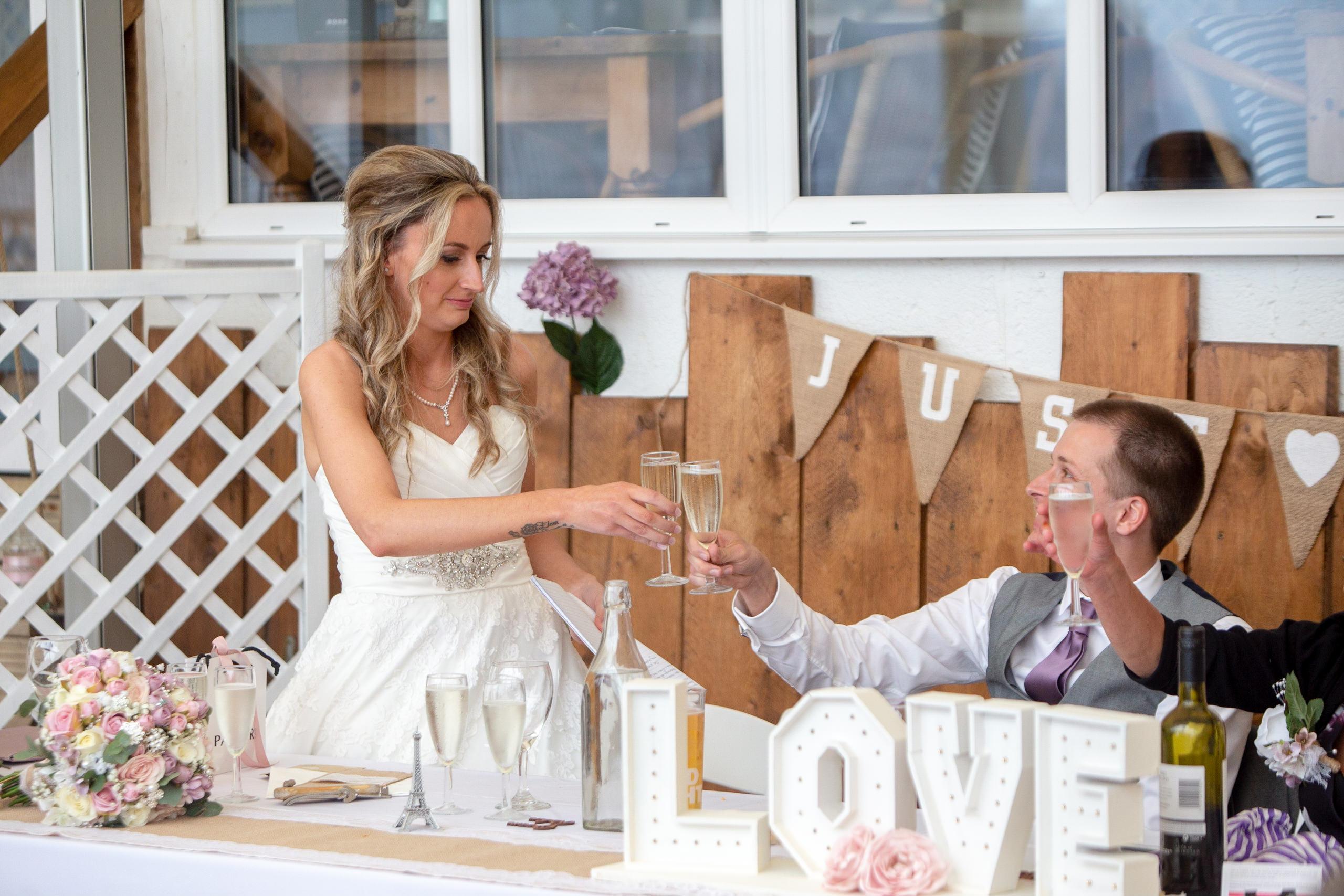 wedding at lusty glaze by Tom Robinson photography Cornwall wedding photographer
